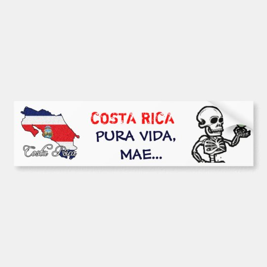 Costa Rica Bumper Sticker - Customised