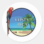 Costa Rica - Classic Round Sticker, Glossy Round Sticker