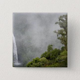 Costa Rica, cloud forest in mountains near La 15 Cm Square Badge