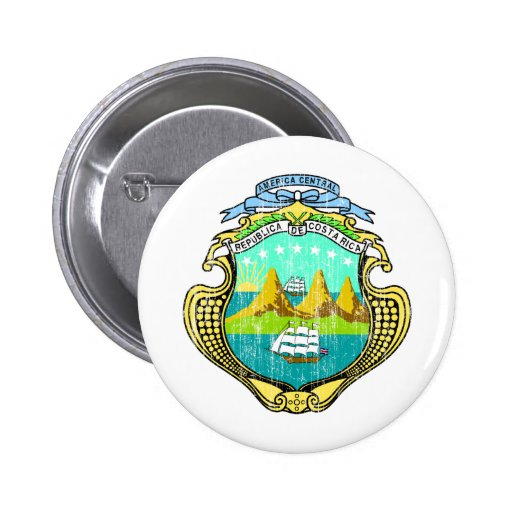 Costa Rica Coat Of Arms Pin