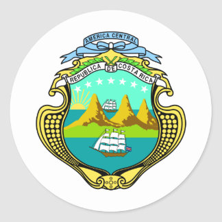 Costa Rica Coat Of Arms Classic Round Sticker