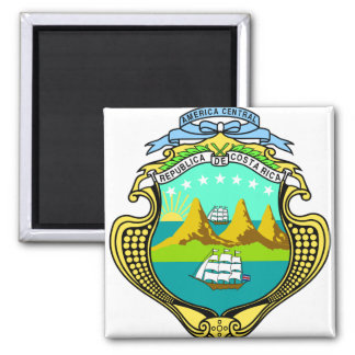 Costa Rica Coat of Arms detail Square Magnet