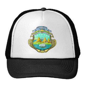 Costa Rica Coat Of Arms Hats