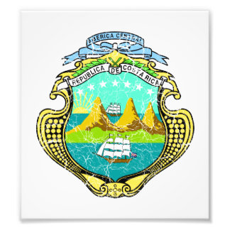 Costa Rica Coat Of Arms Photographic Print