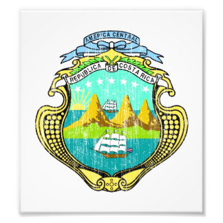 Costa Rica Coat Of Arms Photograph