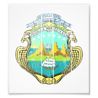 Costa Rica Coat Of Arms Art Photo