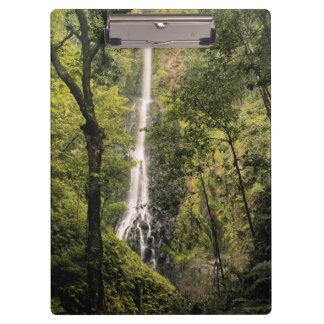 Costa Rica, Cocos Island, Wafer Bay Waterfall Clipboard