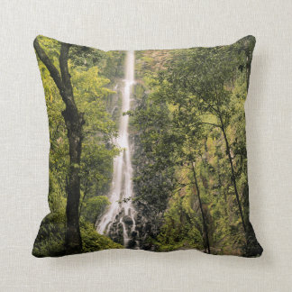 Costa Rica, Cocos Island, Wafer Bay Waterfall Throw Pillow