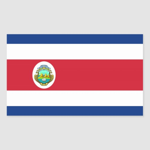 Costa Rica – Costa Rican National Flag Rectangular Stickers