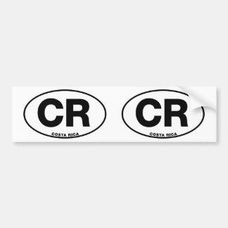 Costa Rica CR Oval International Identity Letters Bumper Sticker