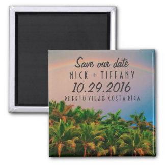Costa Rica Destination Wedding Save the Date Magnet