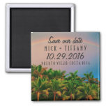 Costa Rica Destination Wedding Save the Date Square Magnet