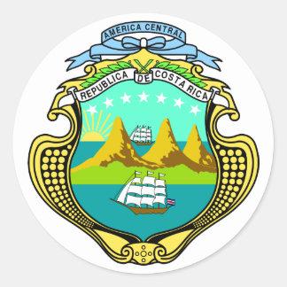 costa rica emblem classic round sticker