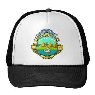 costa rica emblem trucker hats