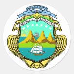 costa rica emblem round sticker
