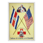 Costa Rica - Emblems of Liberty and Humanity Poster