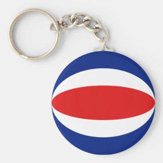 Costa Rica Fisheye Flag Keychain