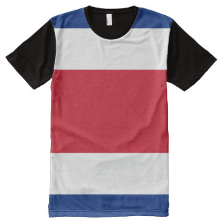 Costa Rica Flag All-Over-Print T-shirt