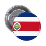 Costa Rica Flag CR 6 Cm Round Badge