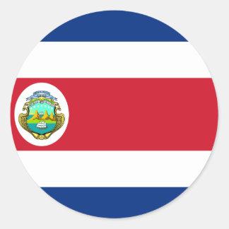 Costa Rica Flag CR Classic Round Sticker