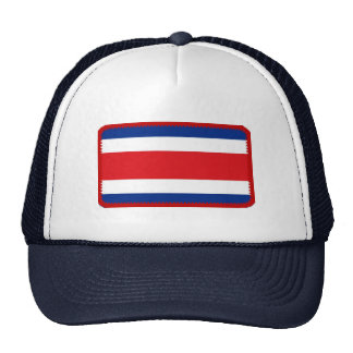 Costa Rica flag embroidered effect hat
