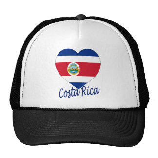 Costa Rica Flag Heart Cap