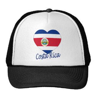 Costa Rica Flag Heart Cap