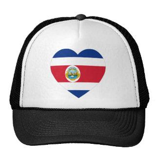 Costa Rica Flag Heart Trucker Hat