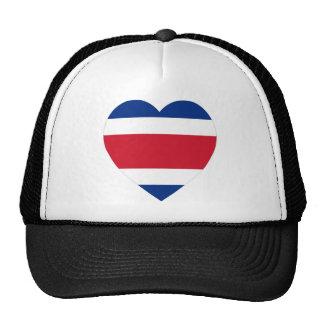 Costa Rica Flag Heart Mesh Hats