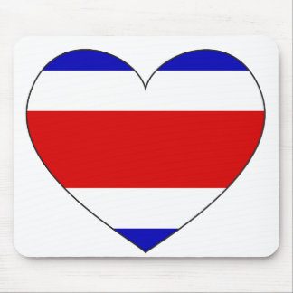 Costa Rica Flag Heart Mouse Mat