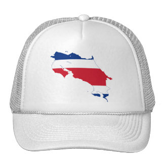 Costa Rica Flag map CR Cap