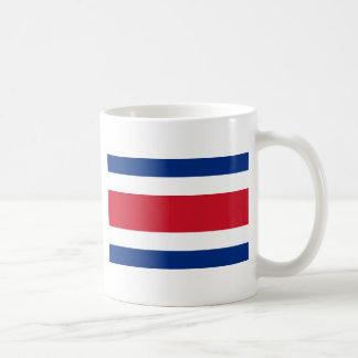 Costa Rica Flag Coffee Mugs