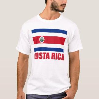 Costa Rica Flag Red Text Light T-Shirt