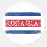 Costa Rica flag Round Sticker