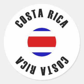 Costa Rica Flag Simple Classic Round Sticker