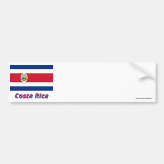 Costa Rica Flag with Name Bumper Sticker