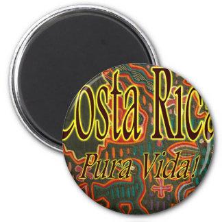 Costa Rica Folk Art Pura Vida 6 Cm Round Magnet
