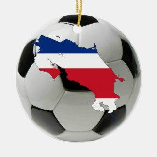 Costa Rica football soccer ornament