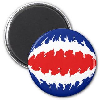 Costa Rica Gnarly Flag 6 Cm Round Magnet