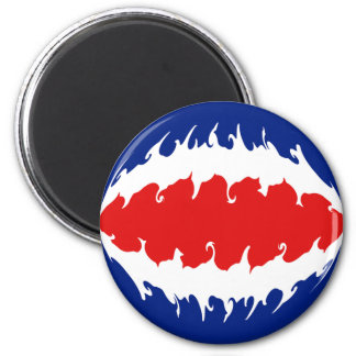 Costa Rica Gnarly Flag 6 Cm Round Magnet
