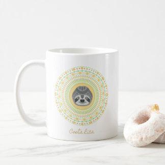 Costa Rica Gold Mandala Sloth Coffee Coffee Mug
