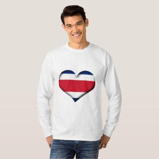 Costa Rica Heart Flag T-Shirt