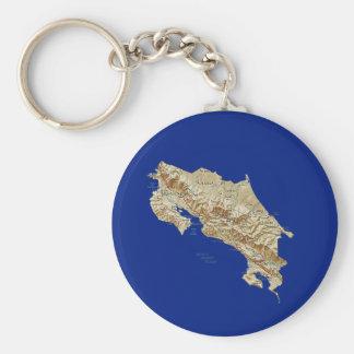 Costa Rica Map Keychain