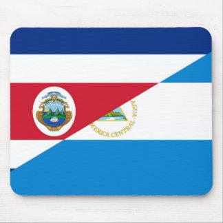costa rica nicaragua half flag symbol mouse mat