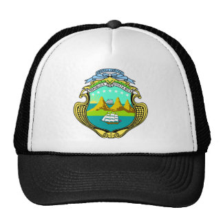 Costa Rica Official Coat Of Arms Heraldry Symbol Cap