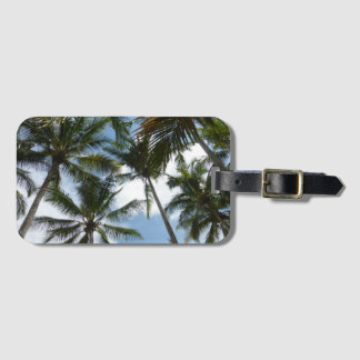 Costa Rica Palm Trees Beach Luggage Tag