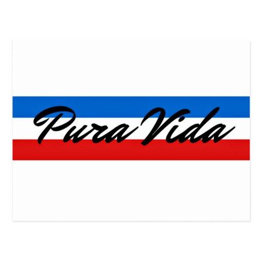 Costa Rica Pura Vida Flag Stripe Post Cards