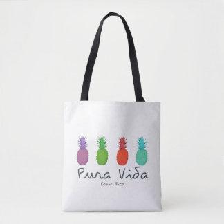 Costa Rica Pura Vida Pineapples Beach Bag