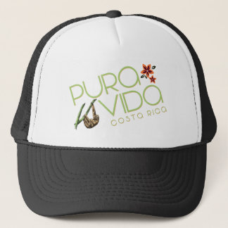 Costa Rica Pura Vida Summer Sloth Souvenir Hat