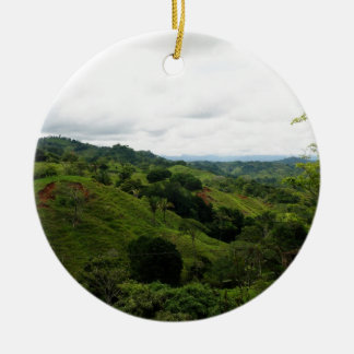 Costa Rica Rain Forest Round Ceramic Decoration